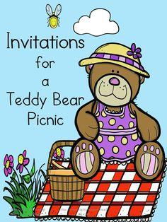 Preschool or Kindergarten Activity:  Teddy Bear Picnic Invitations - Cute, free,and printable.