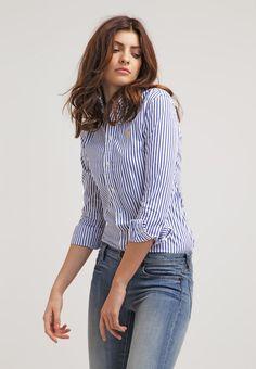 Diese Bluse bringt Schwung in dein Outfit. Polo Ralph Lauren HARPER - Hemdbluse - blue/white für 99,95 € (04.09.16) versandkostenfrei bei Zalando bestellen.