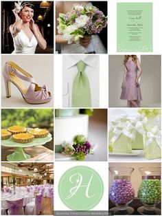 Things Festive Wedding Blog: Spring Wedding Color Palette - Antique Lilac and Mint Green