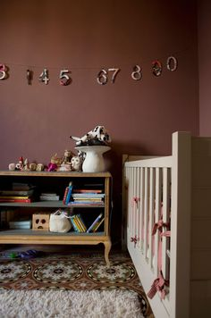 unexpected nursery colors.  love the rug