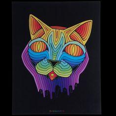 IHSQUARED Acid Cat Print