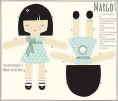 MARGOT Cut and sew doll kit by Tastietreats on Etsy, $14.00