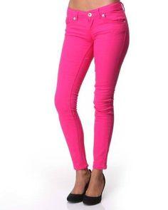 pink skinnys