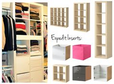 IKEA Expedit Series for Closets