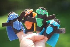 Add some power to your hands with these Super Hero finger puppets.