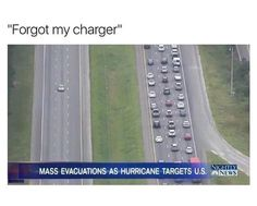 Massive hurricane about to hit with traffic like crazy...forgot my charger