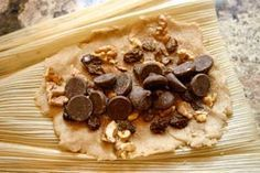 Mexican Sweet Tamales - Dessert Tamales by Rockin Robin Tweekn it a bit and maki. - Mexican Sweet Tamales – Dessert Tamales by Rockin Robin Tweekn it a bit and making pumpkin choc o - Raw Food Recipes, Mexican Food Recipes, Dessert Recipes, Cooking Recipes, Mexican Desserts, Cooking Tips, Freezer Recipes, Freezer Cooking, Dinner Recipes