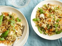 Get Quinoa Salad with Apricots, Basil and Pistachios Recipe from Food Network