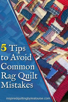 Info re How to Make A Rag Quilt Five Essential Tips to Avoid Common Rag Quilt Mistakes Flannel Rag Quilts, Baby Rag Quilts, Lap Quilts, Denim Quilts, Quilt Blocks, Blue Jean Quilts, Shirt Quilts, Quilt Kits, Quilting For Beginners