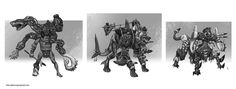 ArtStation - Maori Warrior Creature Concepts, Darko Kreculj