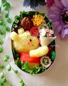 Pooh Bento Pooh Bento - Home Decor ideas &Home Garden & Diy Cute Food Art, Food Art For Kids, Bento Recipes, Healthy Recipes, Bento Kids, Bento Box Lunch For Kids, Cute Bento Boxes, Japanese Food Art, Japanese Bento Box