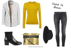 Yellow sweater outfit - Styled by Manon