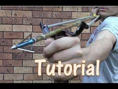 How To Make A 45 Pound PVC Slingbow for $5 Zommbie Defence , fishing , compact - YouTube