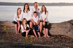A family portrait photographed at the Browns Point Lighthouse Park, Tacoma, Washington.     . Remembering the Reason for the Hope that is Within... #family first!