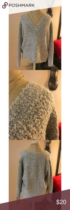 Gray Slouchy Sweater Comfy textured sweater. You can wear the sweater like the manakin OR off the shoulder to give that effortless look Forever 21 Sweaters V-Necks