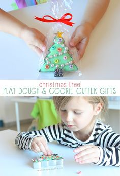 Christmas Tree Play Dough & Cookie Cutter Gifts | Mama.Papa.Bubba.