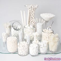 White Candy Buffets | Photo Gallery | CandyWarehouse.com Online Candy Store