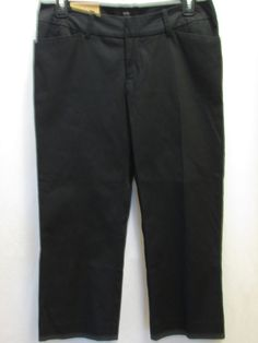 Cache Size 6 Black Capri Pants Dressy Black Button Trim Cuffs ...