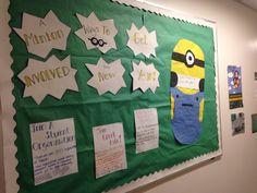 Despicable me Bulletin Board Ra Themes, Despicable Me, Bulletin Board, Minions, Goodies, Arts And Crafts, Frame, Ideas, Home Decor