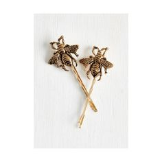 You never know when a beautiful insect will buzz by, so keep your camera and these gold, ModCloth-exclusive hair pins handy! Two engraved bees trim these metal…