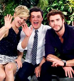 GIF // Jennifer Lawrence // Josh Hutcherson // Liam Hemsworth // The Hunger Games // Catching Fire Liam is so not fun!
