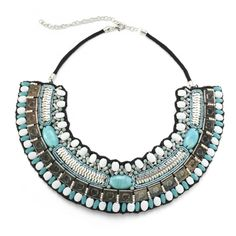 St. Barth Necklace - Turquoise Bib Necklace