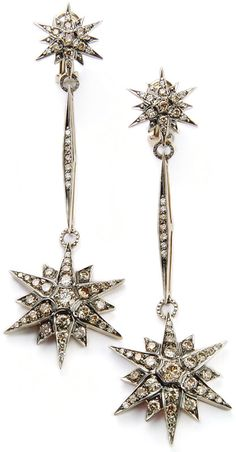 H. Stern Star earrings in 18k noble gold with cognac diamonds. The inspiration for Stars Collection came from a Victorian tiara, circa 1900.