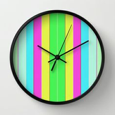 Blowpop Lines Wall Clock by Dood_L - $30.00