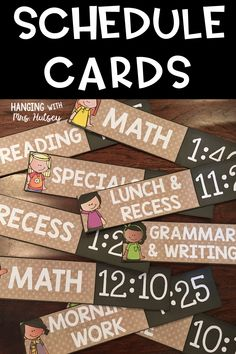 Use these editable schedule cards to display your daily schedule. Fit in great with a rustic or farmhouse themed classroom decor style!