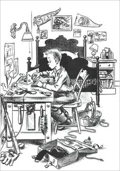 Homer Price by Robert McCloskey Homer Price, Robert Mccloskey, Children's Book Illustration, Book Illustrations, Children's Picture Books, Book Week, Vintage Children's Books, Childrens Books, Illustrators