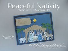 Homemade Christmas Cards, Stampin Up Christmas, Christmas Nativity, Christmas Bells, Wink Of Stella, Christmas Printables, Stamping Up, Christmas Projects, Stampin Up Cards