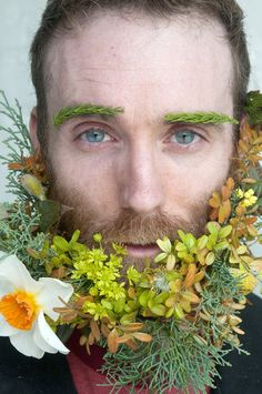 Matt Muirhead sports a botanical 'Baltimore Beard.' by Irene Donnelly for Local Color Flowers