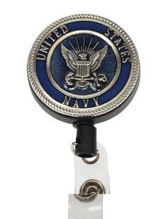 MARINE CORPS USMC Retractable Reel ID Card Badge Holder//Key Ring//US Military