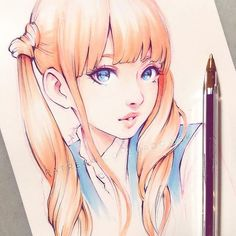 Sketchy mood today, inspired by @eeelyeee's latest photos ♡ _ you can support my art on Patreon and get videos process steps and more ♡ patreon.com/Ladowska ♡ Thank you! _ #sketcheveryday #drawing #sketchbook #pen #copic #copicmarkers #traditionalart #animegirl #anime #manga #mangagirl #illustration #illustrationart #漫画 #アニメ #スケッチ #お絵かき