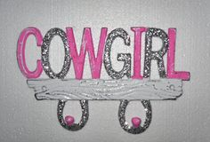 Wall Hook / Western Decor / Cowgirl wall Hook / Glitter and Pink