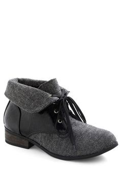 Fold-over black boots