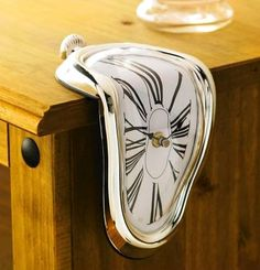 Buy Melted Dali Watch at the best price. This Dali Melted Watch is very original and looks like it has been melted. If you like Dali or decorative products then this watch is perfect for decorating your . Dali Clock, Clock Art, Hanging Clock, Lucid Dreaming Techniques, Oh My Home, Melting Clock, Unique Desks, Lunette Style, Clocks For Sale