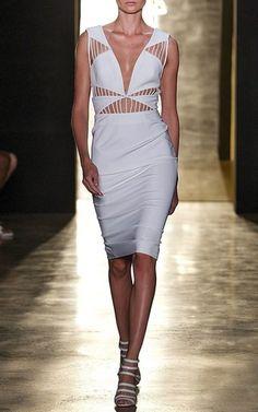 Cut-out White Dress by Cushnie et Ochs Now Available on Moda Operandi