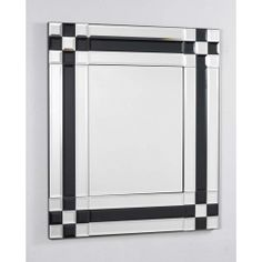 Beveled glass mirror with beautiful black glass insets to create an amazing look. This mirror can be hung portrait or landscape. Please note that fixings for the wall are not supplied. Ensure that appropriate fixings for the wall are used before hanging. Over The Door Mirror, Window Mirror, Round Wall Mirror, Dresser With Mirror, Round Mirrors, Full Length Mirror Wall, Overmantle Mirror, Cheval Mirror, Colors