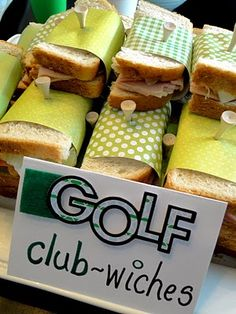 Use a tee to hold your club sandwiches together at a golf themed party - maybe lunch before the tournament?