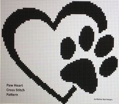 Looking for your next project? You're going to love Paw Heart Cross Stitch Pattern by designer Motherbeedesigns. Looking for your next project? You're going to love Paw Heart Cross Stitch Pattern by designer Motherbeedesigns. Cross Stitch Heart, Cross Stitch Animals, Counted Cross Stitch Patterns, Cross Stitch Designs, Cross Stitch Embroidery, Embroidery Patterns, Cross Heart, Hand Embroidery, Celtic Cross Stitch