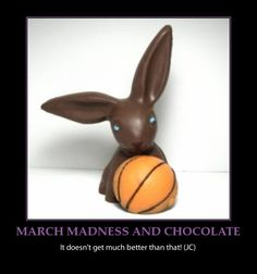 March Madness meets the Easter Bunny Funny Emails, Chocolate Easter Bunny, Easter Traditions, March Madness, Bunnies, Basketball, Holidays, Memes, Quotes