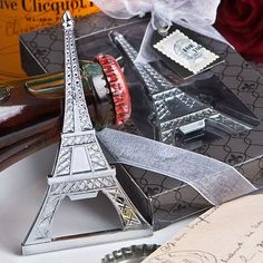 96 Eiffel Tower Bottle Opener Wedding Party Favors for travel themes and Springtime in Paris themes! = Affordable Elegance Bridal -