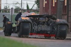"""Some amazing new set photos from the Detroit set of Batman v Superman: Dawn of Justice have found their way online giving us an even better look at the iconic vehicle than the recently released official image as it heads into action on the streets of """"Gotham City""""..."""