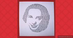 Create a face of words for your next handmade greeting card. You may need to do some hand exercises before starting! Create A Face, Creative Cards, Greeting Cards Handmade, Exercises, Symbols, Letters, Words, Knives, Exercise Routines