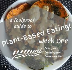 Plant-Based Meal Plan - Week 1. Includes Grocery List!