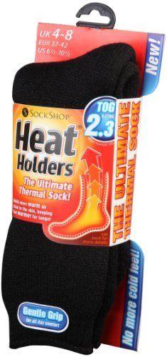 Heat Holders Thermal Socks, Women's Original, US Shoe Size 5-9, Black by Heat Holders. $15.12
