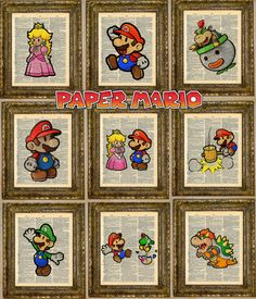 Hey, I found this really awesome Etsy listing at https://www.etsy.com/listing/126069363/paper-mario-dictionary-art-series