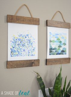 Easy Rustic Hanging Art for the Entry; Plus Blog Hop & Linky Party! | A Shade Of Teal #wallarthop