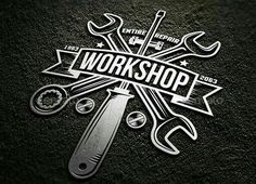 Amazing workshop bundle of tools, hands and logos in vintage style. Perfect for placing on any surface. You can use ready-made logos, edit them, or design your Garage Logo, Garage Art, Gaz Monkey, Moto Logo, Design Garage, Automotive Logo, Logo Design, Graphic Design, Garage Workshop